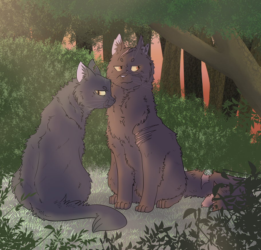 Yellowfang and Raggedstar by freezy-rat
