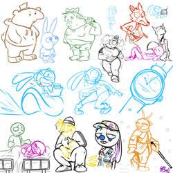 Roommates Doodles