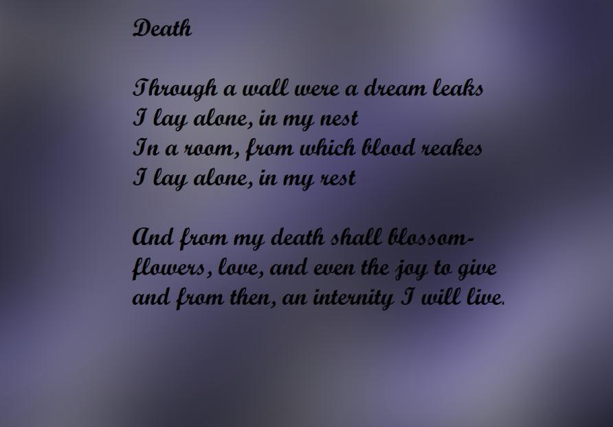 Death Poem By Thethreebrothers On Deviantart Here is a list of loss / death poems. death poem by thethreebrothers on