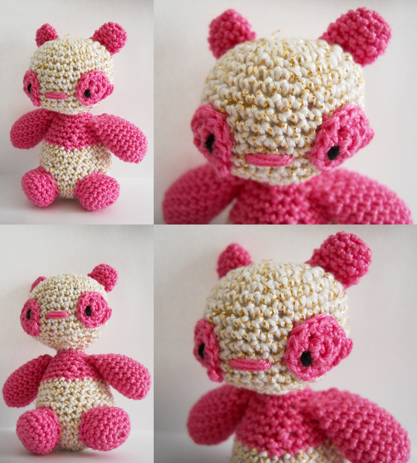 V-Day Pink Panda by TheSmall-Stuff