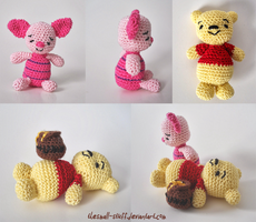 Winnie the Pooh and Piglet by TheSmall-Stuff