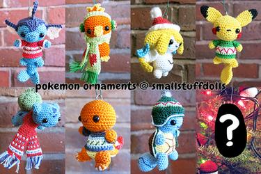 Cozy Pokemon Ornaments by TheSmall-Stuff