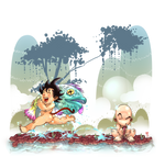 Goku-Krilin by CRUSHEILY