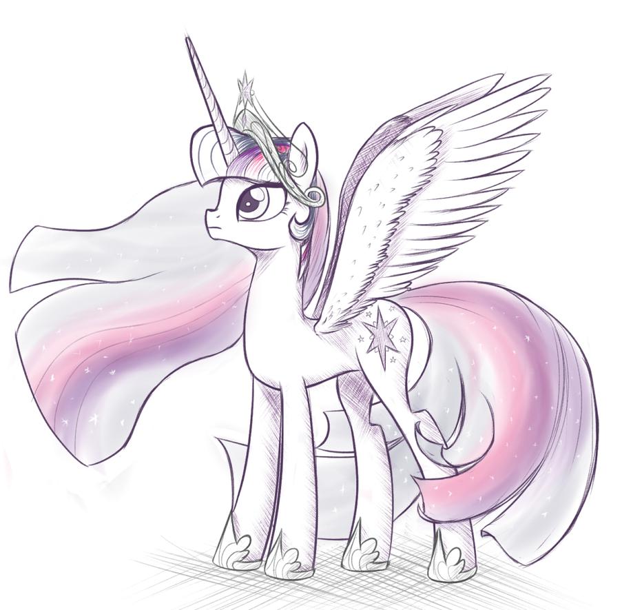 Alicorn twilight sparkle by ohthatandy on deviantart