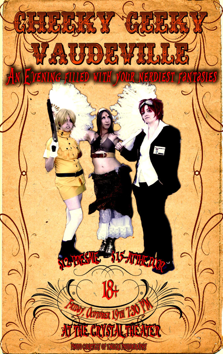 cheeky geeky vaudeville poster 2 by Irkyme on DeviantArt