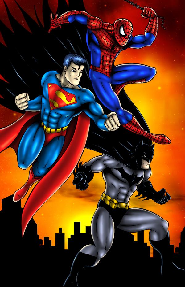 Spiderman Superman Batman by Foongatz on DeviantArt