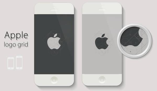 Apple logo grid