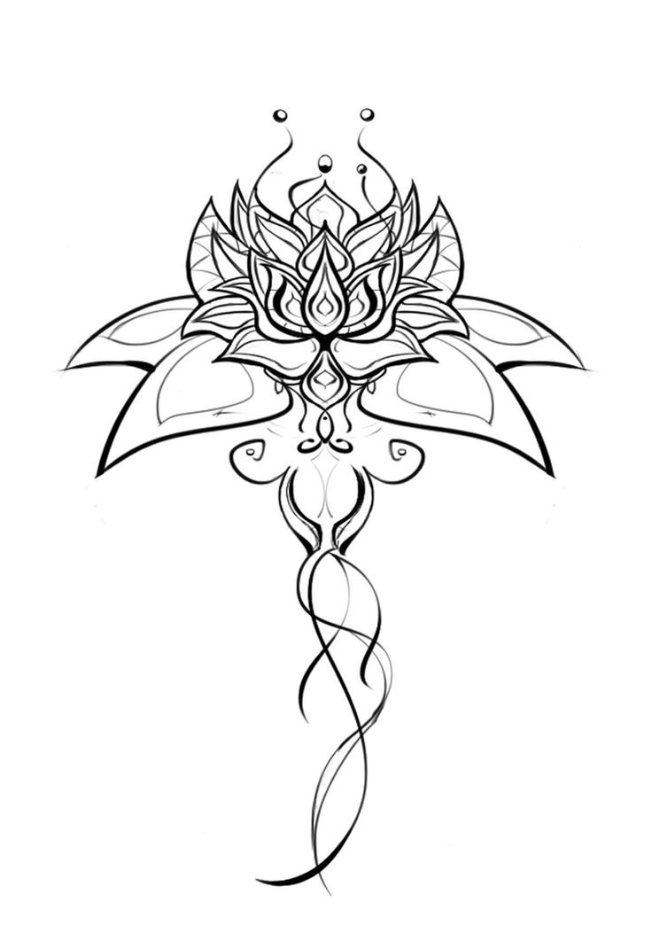 Lotus flower design pictures temporary tattoo lucky dip seconds lotus flower design by dikou izmirmasajfo
