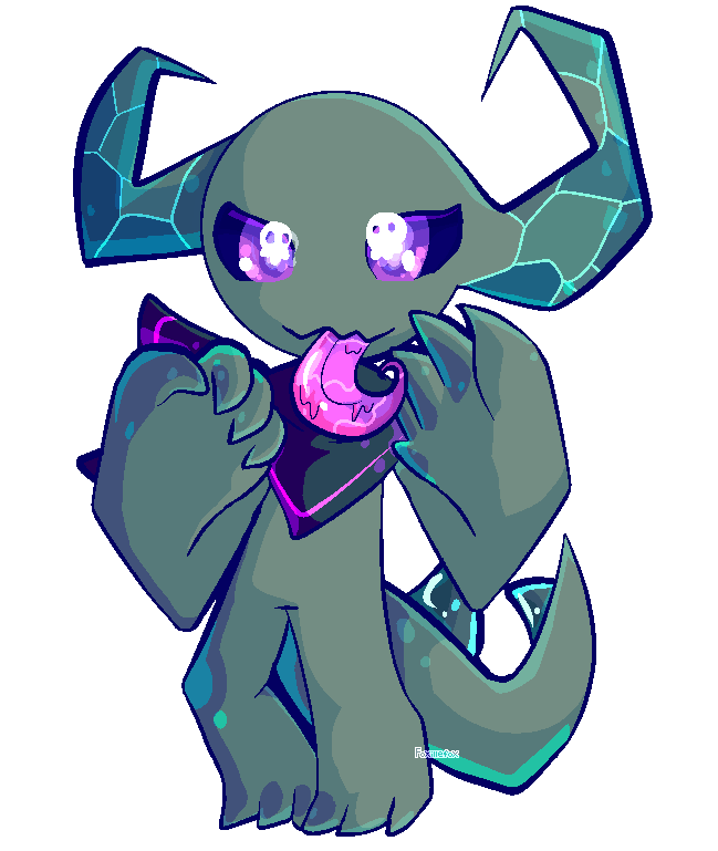[ Pixely ] Chibi Demon Batu by foxillefox