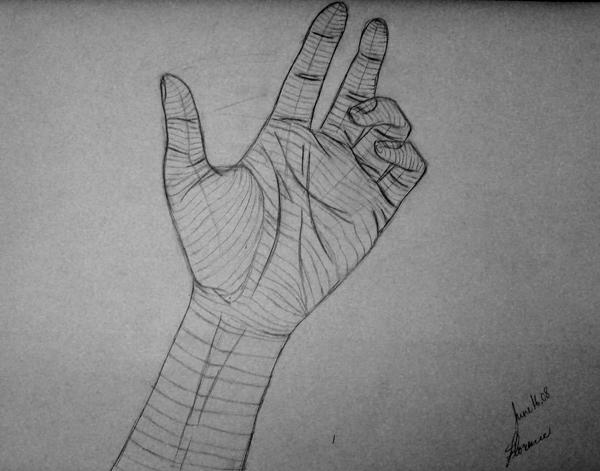 Cross Contour Line Drawing Hand : Cross contour hand by archangel on deviantart