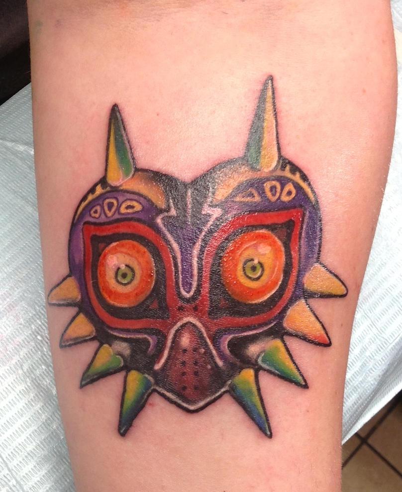 Majora s Mask Tattoo by Brownsbacker4evrMajoras Mask Tattoo