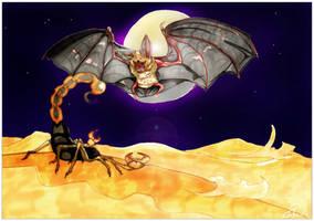 Midnight Snack [Pallid Bat] by TheFredricus