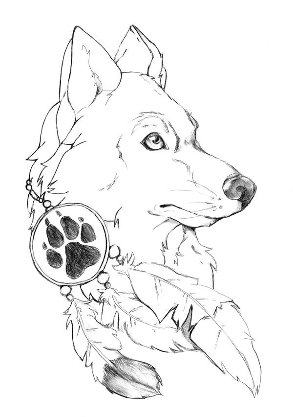 Wolf Tattoo  SKETCH By TheFredricus On DeviantArt