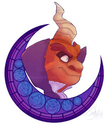Stained Glass Crescent: Ripto by TheFredricus