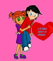 Lil Star and Lil Robin by BeastboysGurl4ya