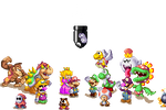 Mario's Family by Pixelisto