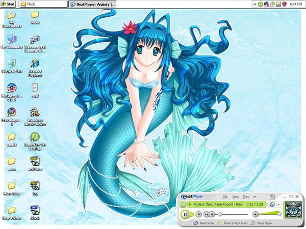 mermaid deskotp by sweetdreamkiss
