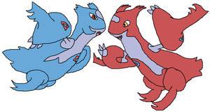 Pokemon reimagine- Mega Latios and Latias