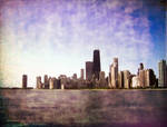 The Chicago Skyline in Burning Dust Paint