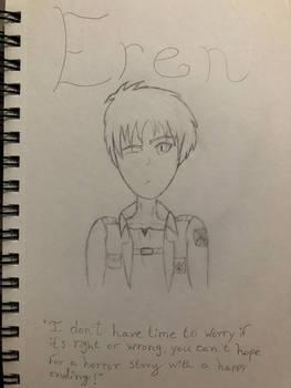Attempt drawing of Eren