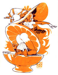 Citrus Sorceress (INKTOBER DAY 3) by Poch4N