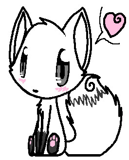 Cute Fox Lineart by pSarahdactyls