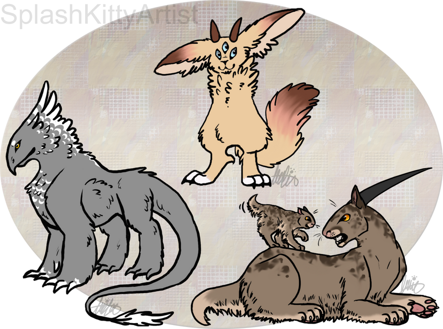 Creatures by pSarahdactyls