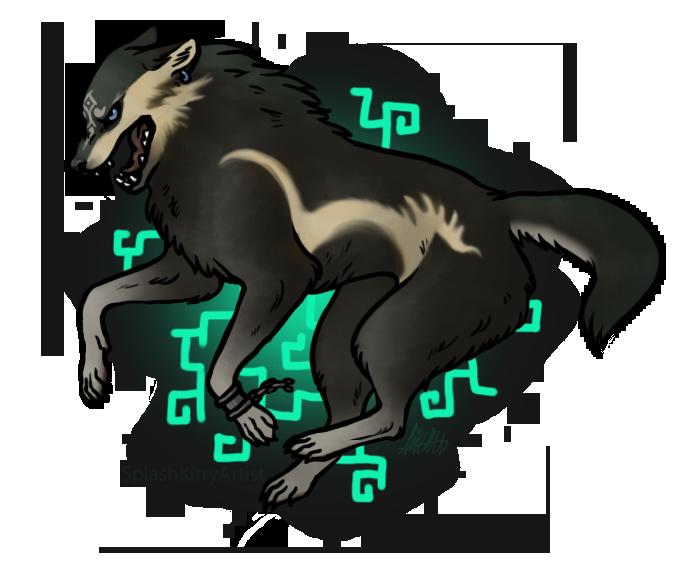 Wolf Link by SplashKittyArtist