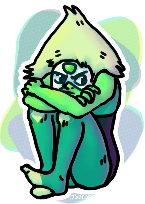 I tried to do a background like a million times and was never happy with it, but whatever, here's this. Peridot is one of my favorites, yet it took me this long to actually draw her....
