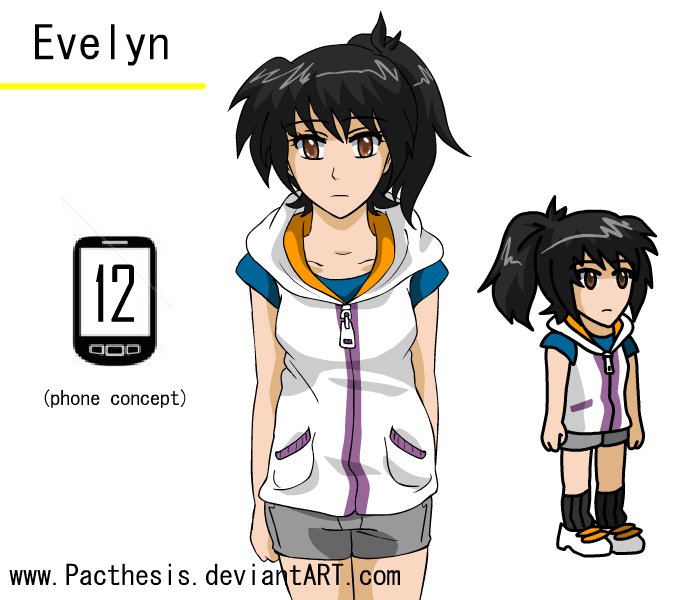 evelyn character sheet by Pacthesis