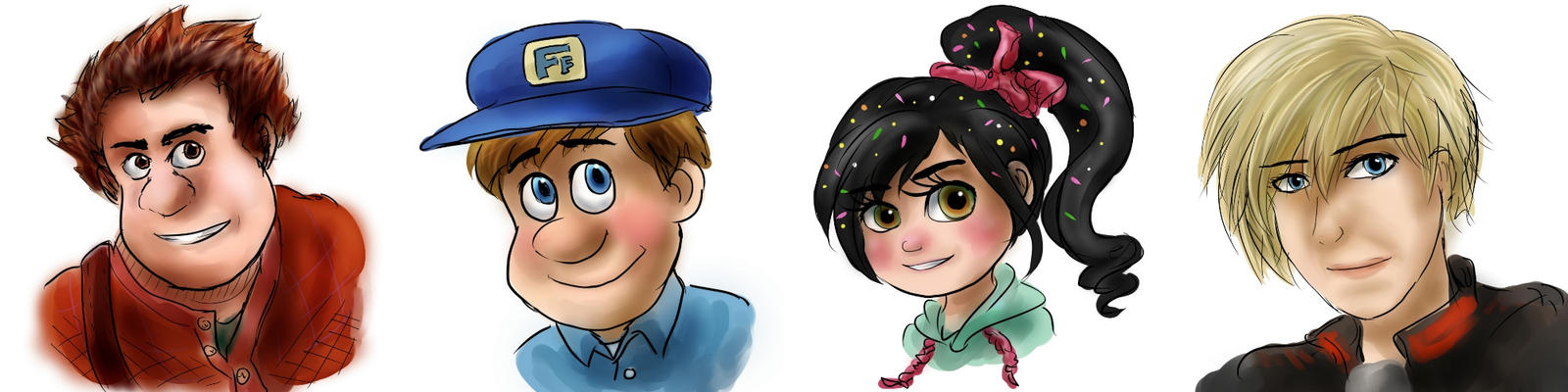 wreck it ralph doodles by Pacthesis