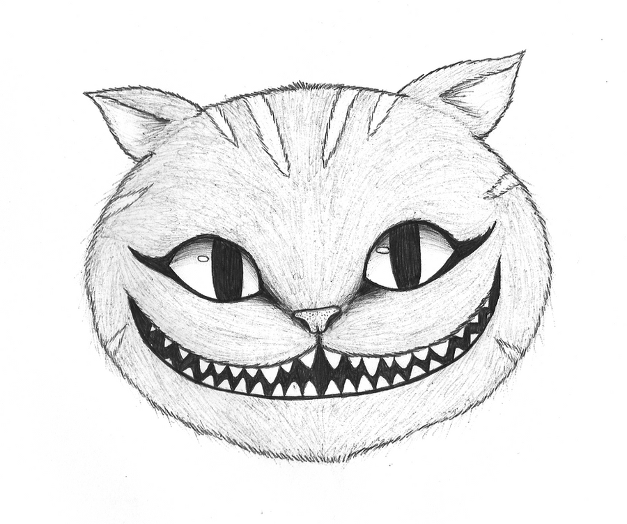 Draw Cheshire Cat Face