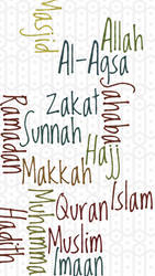Islamic Words Iphone Wallpaper