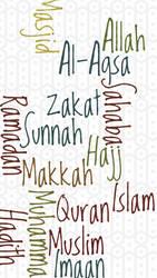 Islamic Words Iphone Wallpaper by topmuslim
