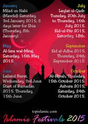 Islamic Festivals Celebrations 2015 by topmuslim