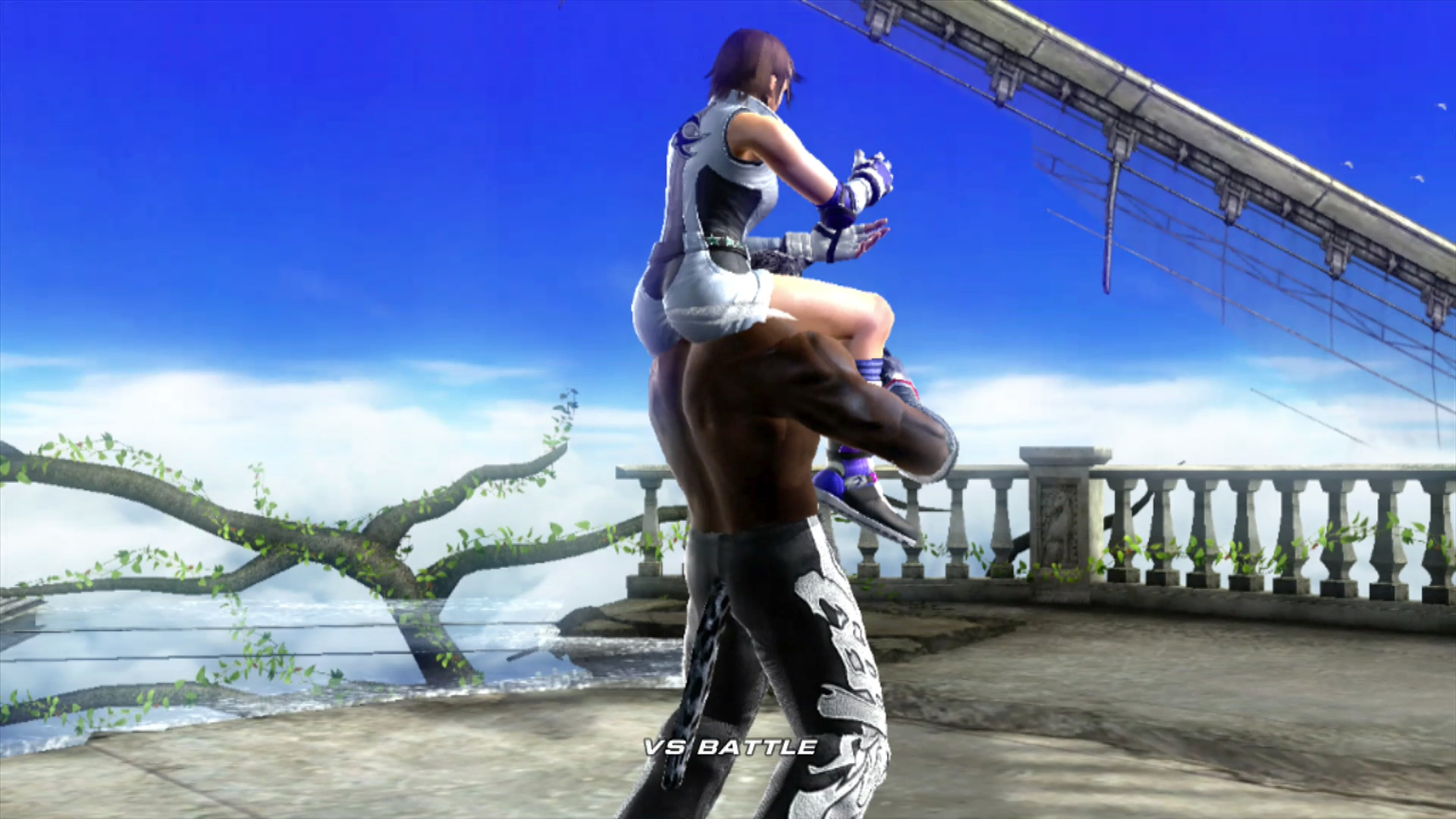 Tekken 6 Asuka Kazama and Armor King  by AllTheStawf on