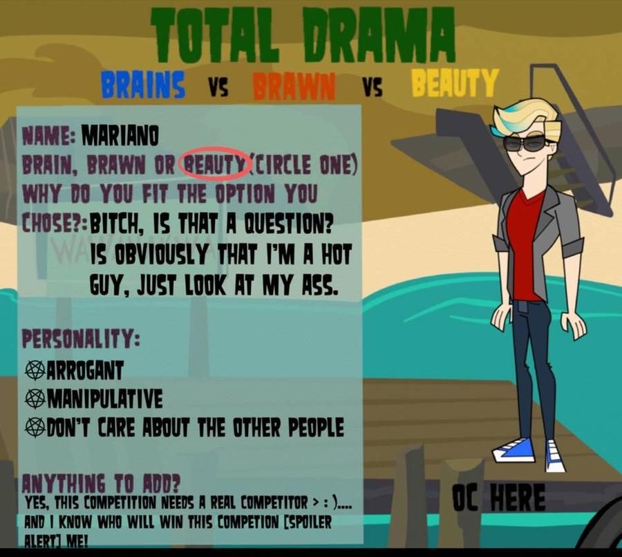 Total Drama BvsBvsB: Mariano's app by TDSuperFan
