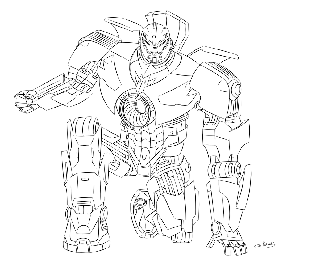 Gipsy Danger Lineart by smilebot-adridea on DeviantArt