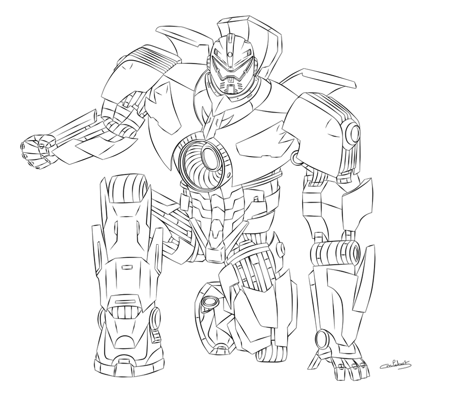 gipsy danger lineart by smilebot