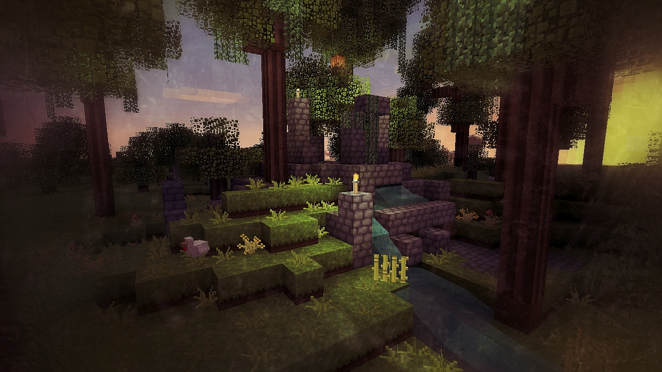 Great Wallpaper Minecraft Forest - minecraft_ruins_in_the_forest_by_ipadartfromjay-d4ezgqp  Pictures_74882.jpg