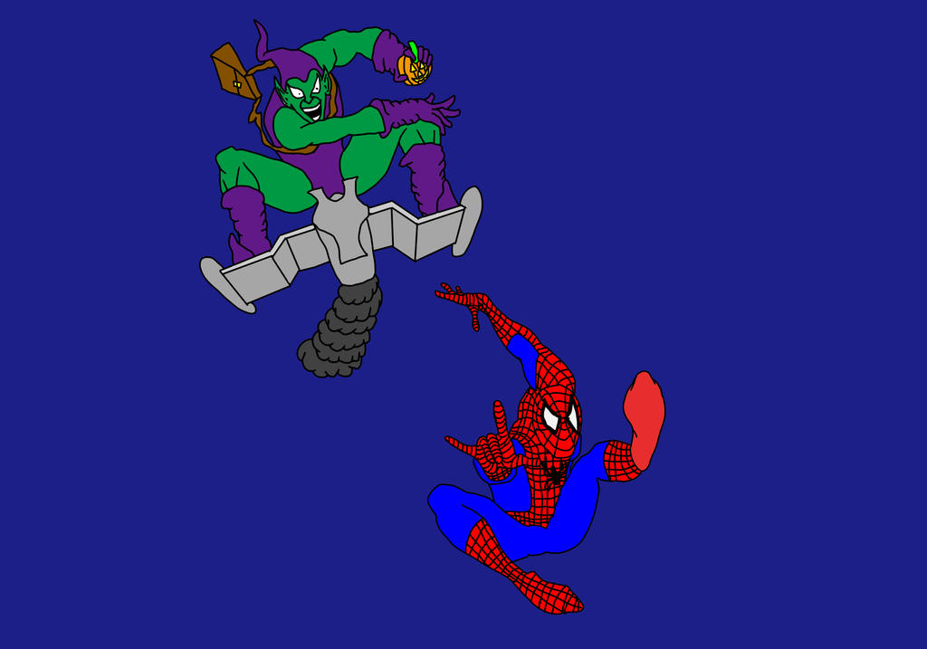 Spiderman and Green Goblin by Wolf2567