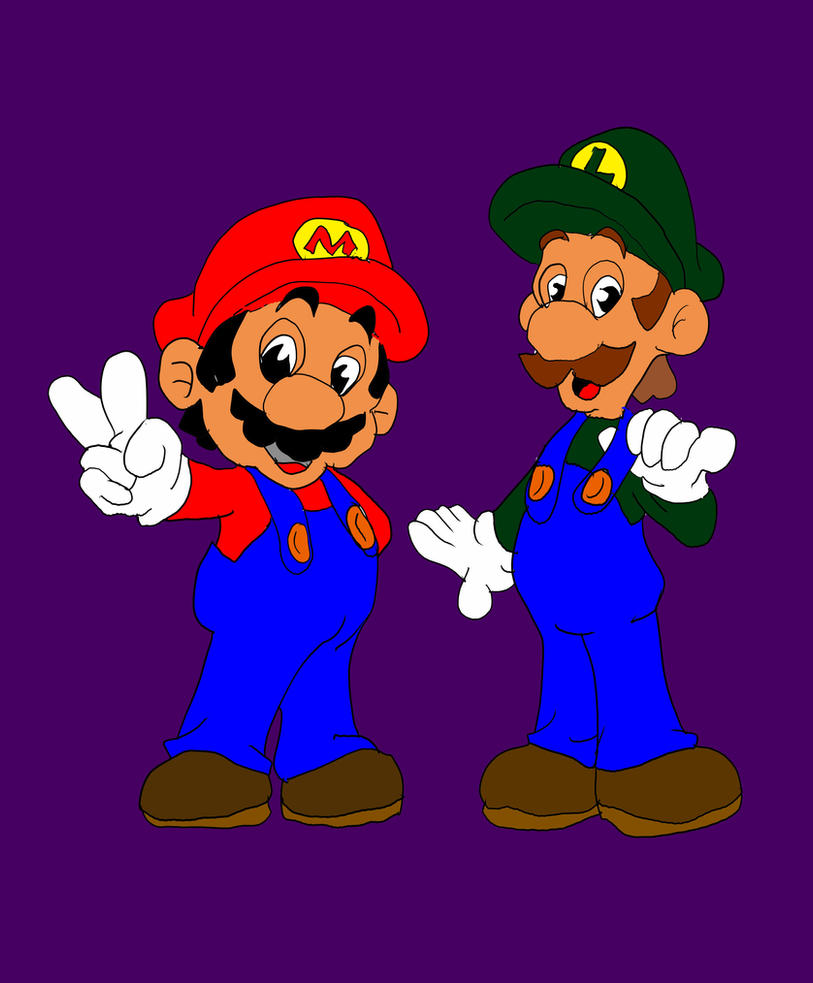 Mario  Luigi by Wolf2567
