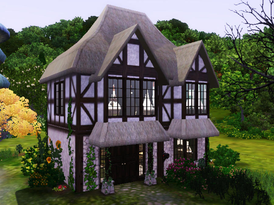 Sims 3 witch cottage by simsrepublic on deviantart for Witches cottage house plans