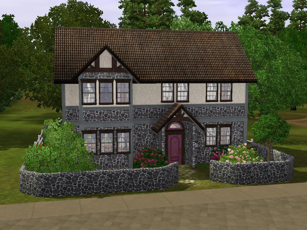 Sims 3 raspberry house by simsrepublic on deviantart for 3 4 house