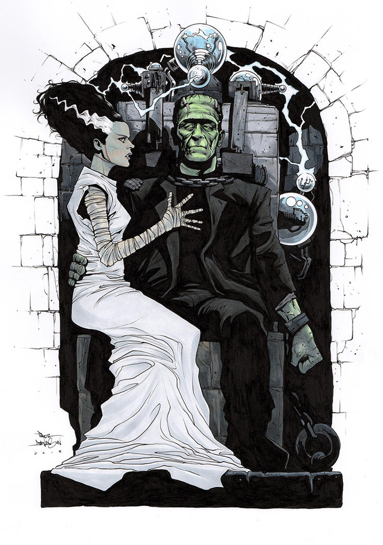 Brideoffrankenstein by krakenart