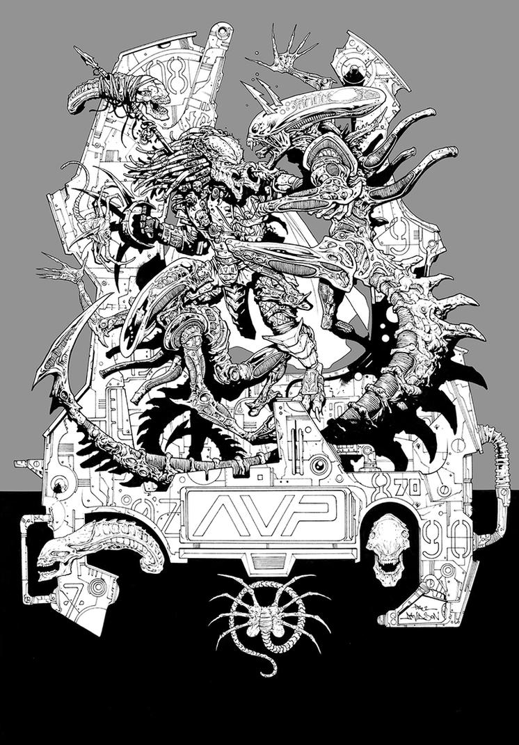 Alien Predator Finalinks by krakenart