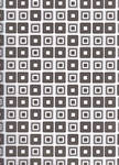 12 by 12 Black Retro Cubes