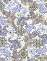 Blue and Brown Paisley by FredtheCow-Stock