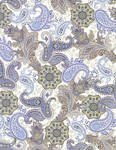 Blue and Brown Paisley
