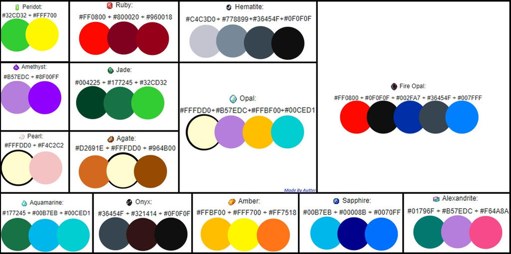 Ovipets Gemstone Color Chart By Yuseabell On Deviantart